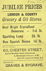 Advert for the London & County Grocery & Oil Stores 6614